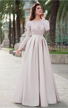 Lace Top Satin Jewel Neckline Long Sleeves A-line Prom Dress.- Lace Top Satin Jewel Neckline Long Sleeves A-line Prom Dress Evening Dress Lace Top Satin Jewel Neckline Long Sleeves A-line Prom Dress Evening Dress - Prom Dresses Long With Sleeves, Long Prom Gowns, A Line Prom Dresses, Bridesmaid Dresses, Hijab Prom Dress, Prom Long, Muslim Prom Dress, Evening Gowns With Sleeves, Sleeve Dresses