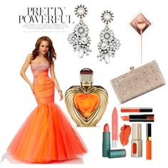 Mermaid Sweetheart Sleeveless Tulle Prom Dress With Beaded by johnnymuller on Polyvore featuring мода and Victoria's Secret