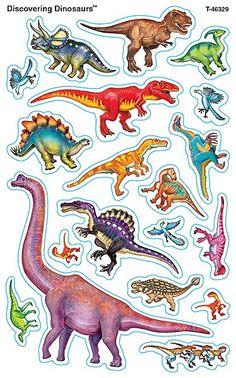 80 Discovering Dinosaurs SuperShapes Teacher Reward Stickers - Large - Sticker Stocker