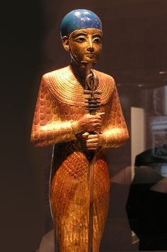 Ancient Egyptian Statue of Ptah, 1322 BC, found in the Tomb of Tutankhamun. Ptah the Creator God started in Lower Egypt known as Merimde Beni-Salame. Set of Merimde told stories of The One True God of Creation and gave him the name Ptah. Ancient Egyptian Art, Ancient History, Art History, Cairo Museum, Egypt Art, Cairo Egypt, Ex Machina, African History, Gods And Goddesses