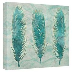 Turquoise Feathers Canvas Print