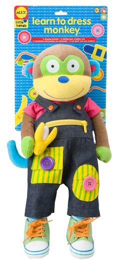 AmazonSmile: ALEX Toys Little Hands Learn To Dress Monkey: Toys & Games