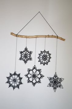 Mobile Cristmas decoration by MyLittleSnowflakes on Etsy