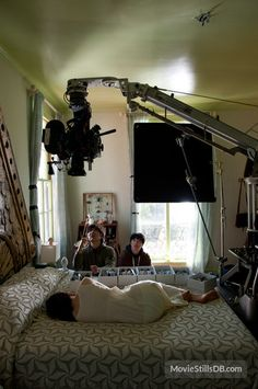 Stoker - Behind the scenes photo of Mia Wasikowska