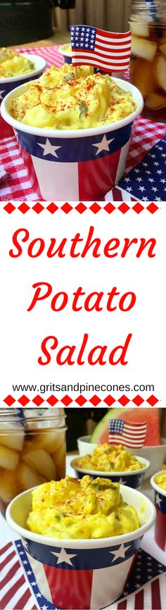 A classic, Southern Potato Salad is perfect for your Labor Day cookout!