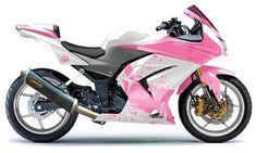 Kawasaki Ninja 250R. Glorious in pink.