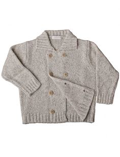 Double breasted cardigan with cashmere