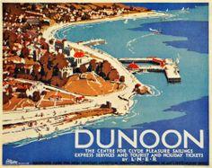 1933 Dunoon Scotland LNER J. Littlejohns Mini Poster - ORIGINAL | eBay