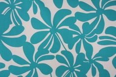 For BELLA -Premier Prints Twirly Printed Cotton Drapery Fabric in True Turquoise $7.48 per yard
