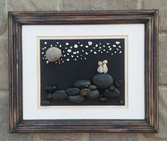 Pebble Art (Sweet couple in the outdoors-star gazing). Set in an