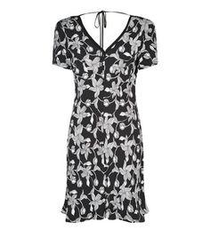 SANDRO Ramia Open Back Printed Dress. #sandro #cloth #