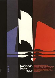 Josef Müller-Brockmann    Poster designed by MB 1954 for the American Book Publishers Council