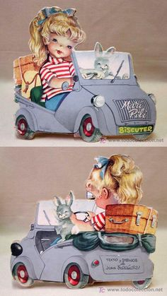 Vintage Posters, Retro Vintage, Curious Cat, Cute Little Animals, Nostalgia, Sweet Memories, Conte, My Childhood, Paper Dolls