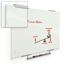 Best-Rite Visionary 4'x6' Magnetic Glass Dry Erase board with Exo Tray System