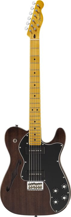 Modern Player Telecaster® Thinline Deluxe Black Transparent