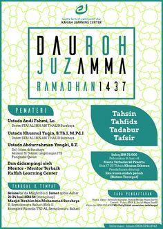 Program 1 Juz Selama 3 Hari Bulan Ramadhan Surabaya Untuk lebih jelasnya silahkan kunjungi norkandirblog.wordpress.com