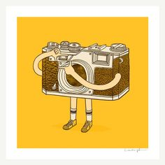 Photographer Print by ilovedoodle on Etsy, $30.00