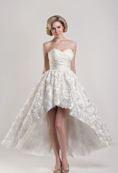 "be9968712c8 Lovely tea length and short wedding dresses from Tobi Hannah Spring 2013  bridal collection ""Modern Future Classics""."