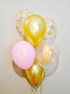 Flamingo Latex Balloon  Pineapple latex Balloon Aloha Party