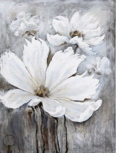 White Magic by Billy Moon: 36 x 48 Painting Acrylic Art, Beautiful Paintings, Painting Inspiration, Diy Art, Painting & Drawing, Flower Art, Art Drawings, Art Projects, Abstract Art