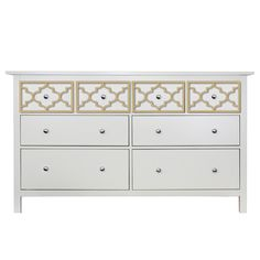 O'verlays Jasmine Kit for Ikea Hemnes 8 drawer dresser. A classic in home decor that works with any style decorating. An easy diy furniture makeover.