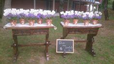 #bodas ideales el el #Parador de #Soria #macetas #decoración #naturaleza #wedding #bride #love #seating plan