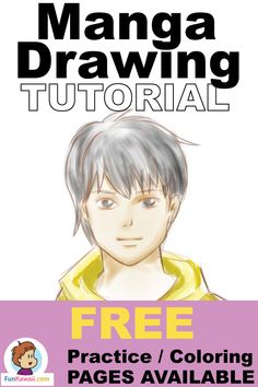 Interested in drawing Manga / Anime style? This is a step-by-step tutorial for beginners :) Free coloring and practice sheets available! draw tutorial for beginners Drawing Videos For Kids, Easy Drawings For Beginners, Easy Drawings For Kids, Kids Videos, Drawing Tutorials, Drawing Techniques, Drawing Tips, Learn Drawing, Drawing Ideas