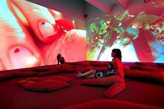 "My first exhibition with Rachel - Pipilotti Rist "" Hauser and Wirth Interactive Installation, Video Installation, Pipilotti Rist, Magic Realism, Day For Night, Stage Design, Art Challenge, Public Art, Disney Art"