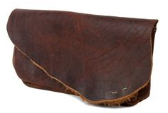 The Lola - Hand-sewn Bison Leather Clutch by Cambria Handmade