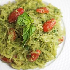 Avocado pesto  1 ripe avocado 1/2 cup fresh basil, tightly packed 1 1/2 Tablespoons fresh lemon juice (about 1 lemon) 1/2 teaspoon minced garlic 1/4 teaspoon sea salt, or more to taste