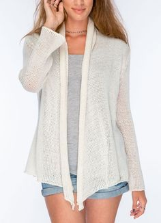 Bone Wrap Cardigan Sweater from Wooden Ships at Art Effect