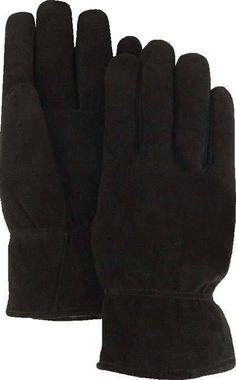 Majestic 1548BLK Black Split Deerskin Leather Driver Gloves Thinsulate Lined (DOZEN)