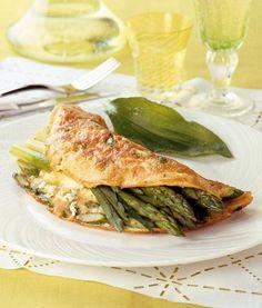 Omelett mit grünem Spargel und Schafskäse Rezept - [ESSEN UND TRINKEN]