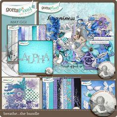 Designer Spotlight: Designs by Helly Breathe Digital Scrapbooking Page Kit & Daily Download   7/17/15  @ gottapixel.net