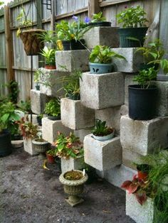 DIY Cinder Block Garden for small yards with limited space.