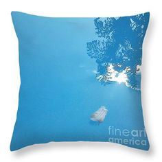 "Delicate reflection Throw Pillow 14"" x 14"" by Pamela Cawood"