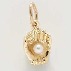 Rembrandt Charm $22 http://www.charmnjewelry.com/category/n250/gold-Sport_Charms.htm?returnurl #RembrandtCharms #BaseBall #Charm