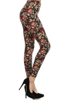 A010 Floral Leggings