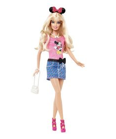 Take a look at this Barbie Loves Disney Doll on zulily today! Disney Barbie Dolls, Barbie World, Mattel Barbie, Barbies Dolls, Ag Dolls, Minnie Mouse Doll, Mickey Mouse, Beautiful Barbie Dolls, Barbie Collector