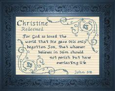 Name Blessings - Christine 2