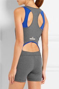 Gray and cobalt stretch-jersey Pulls on 92% nylon, 8% elastane Machine wash Designer color: Dark Gray Heather Imported