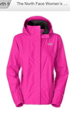 North face women's Resolve rain jacket in pink
