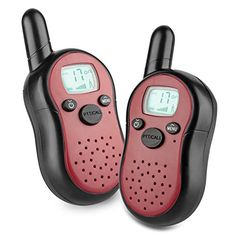 Kids Walkie Talkies 22 Channel FRSGMRS 2 Way Radio 2 Miles up to 37 Miles UHF Handheld Walkie Talkies for Kids Pack of 2Fiery Red *** Be sure to check out this awesome product.Note:It is affiliate link to Amazon.