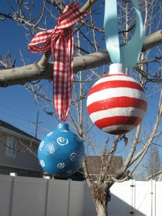 How to make OUTDOOR Christmas Ornaments