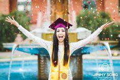 ASU Senior Grad Graduation Picture Ideas Dress Cap Gown. Tempe, Arizona