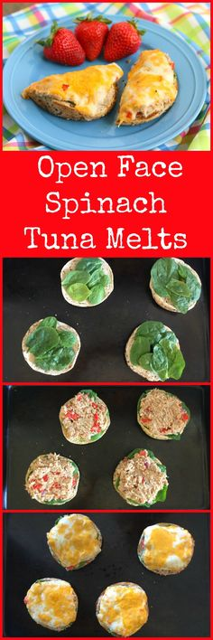 open.face.spinach.tuna.melts