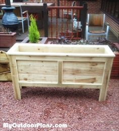 Landscape timber bowl planter craft ideas pinterest for Landscape timber projects free plans