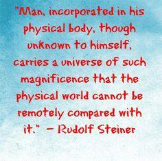 Rudolf Steiner on the Micro cosmos