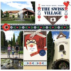 Swiss Village, Tasmania pocket scrapbook page by Justine with products from The Lilypad #projectmouse