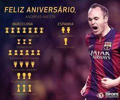 Happy birthday, Andreas Iniesta! Maestro!